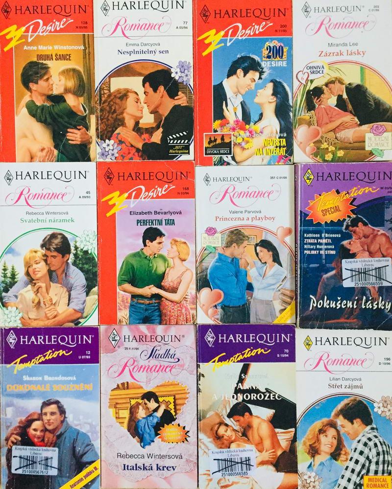 Velká knižní kolekce Harlequin 24. - 12x bazarová kniha