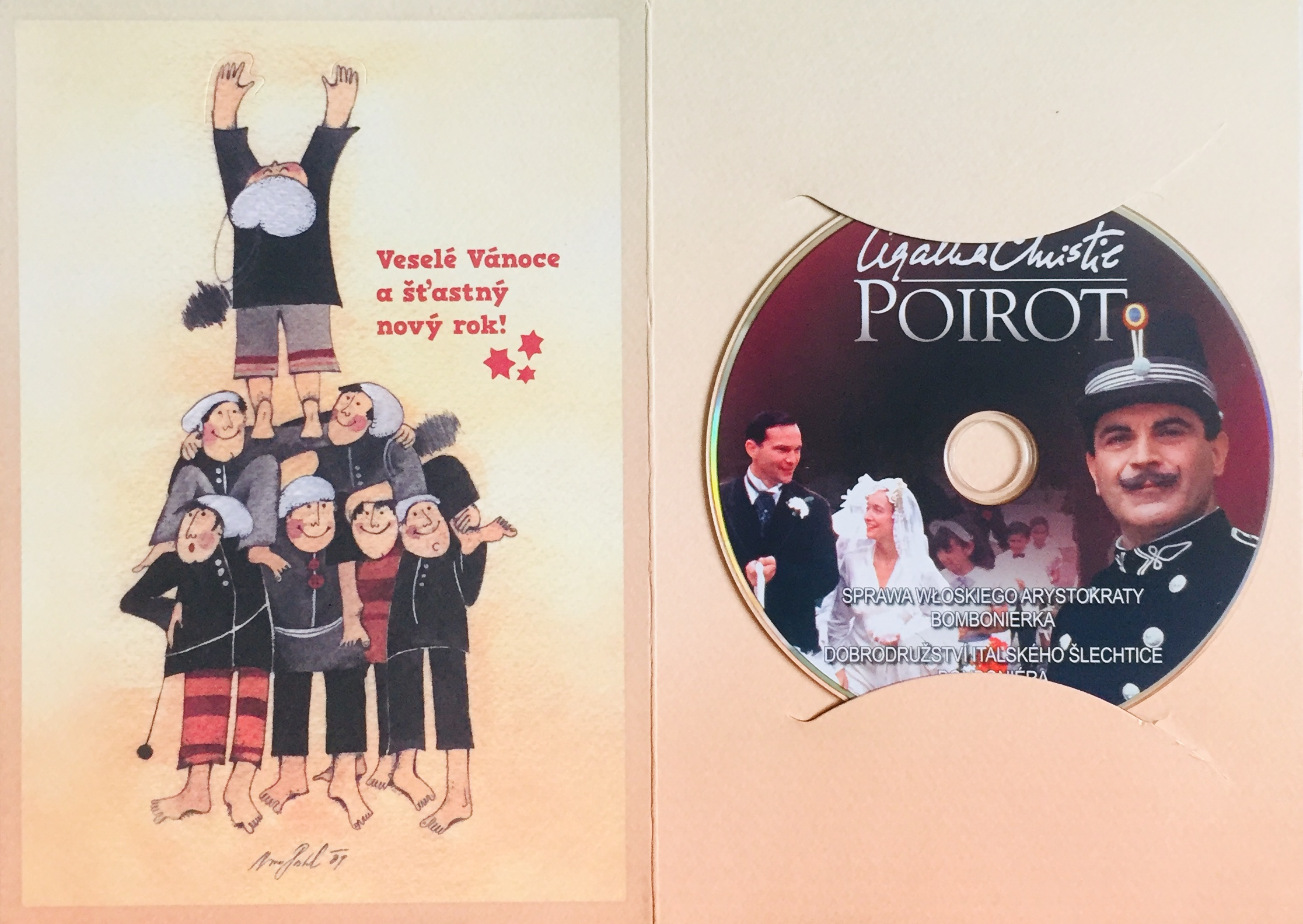 Poirot - Bonboniéra / Dobrodružství italského šlechtice - DVD /dárkový obal/