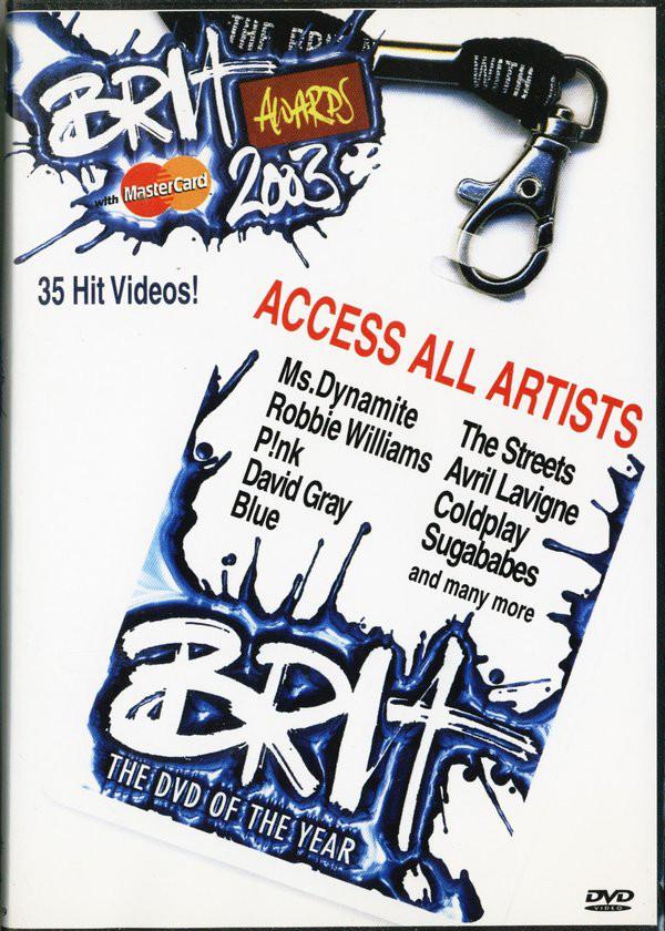 Brit Awards 2003 - Access All Artists - DVD /plast/