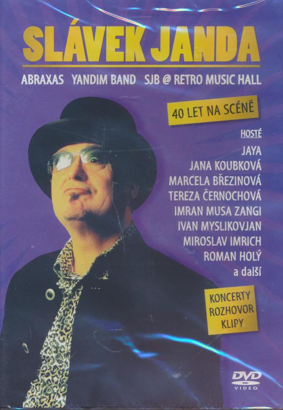 Slávek Janda - 40 letna scéně - DVD /plast/