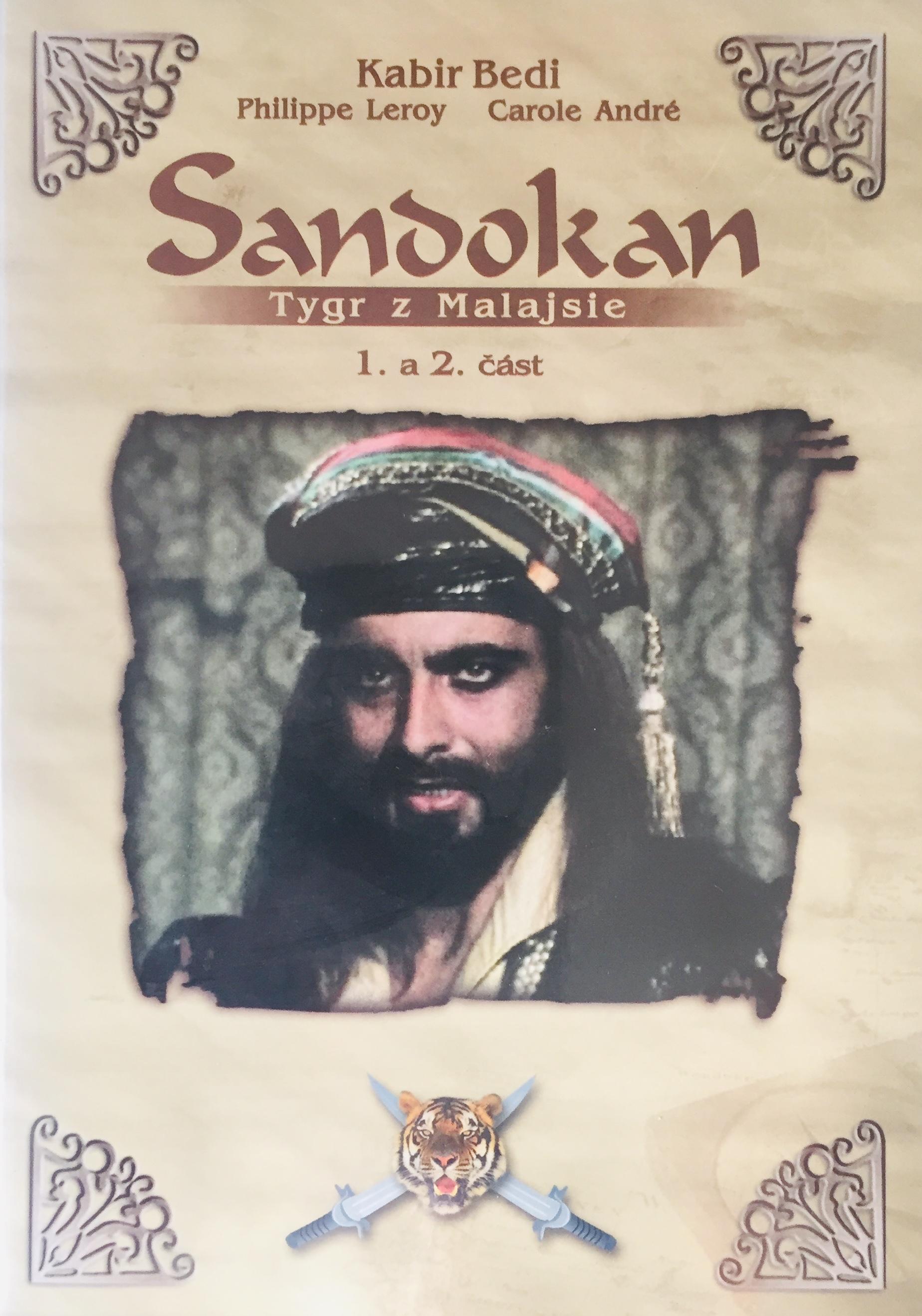 Sandokan - Tygr z Malajsie - 1. a 2. část - DVD /plast/