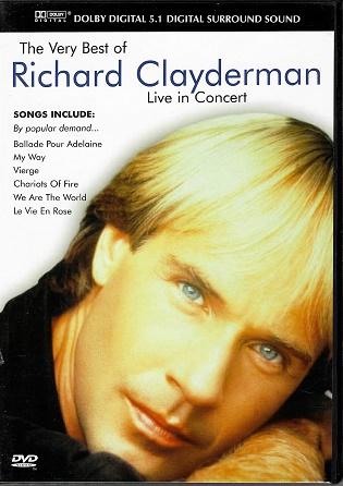 The very best of RICHARD CLAYDERMAN - Live in concert ( plast ) DVD