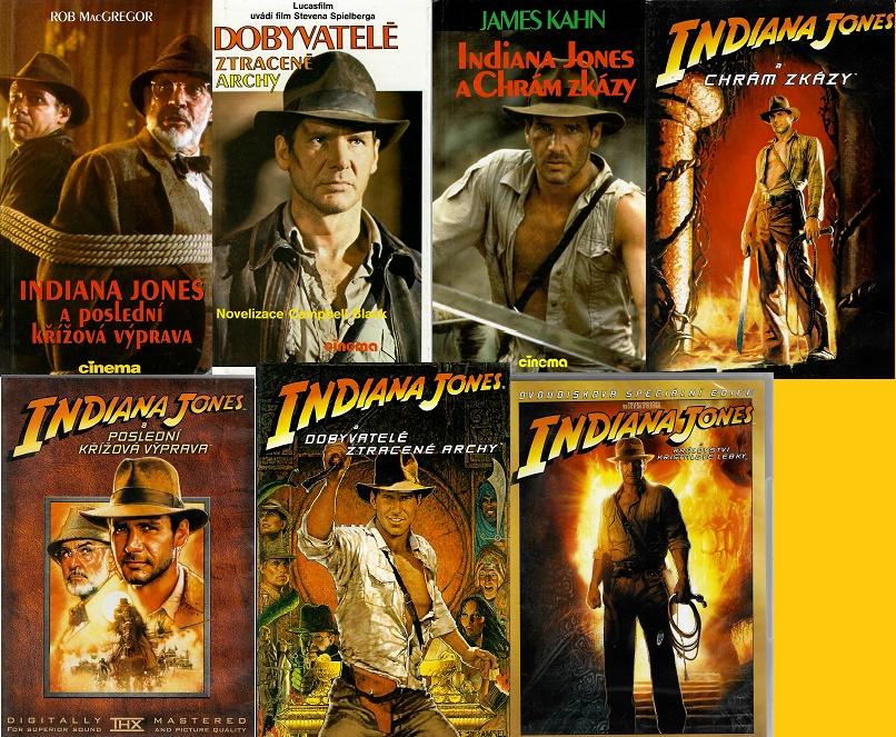 Kolekce Indiana Jones / Steven Spielberg ( 3x kniha bazarová + 4x DVD )