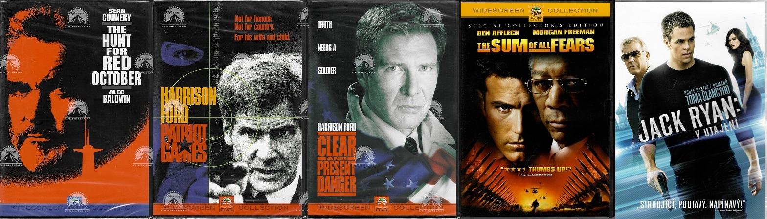Kolekce filmů  Jack Ryan / Tom Clancy - 5x DVD