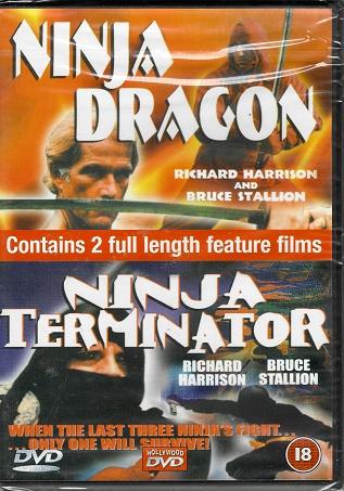 2x DVD Ninja Dragon / Ninja Terminator ( originální znění ) plast DVD