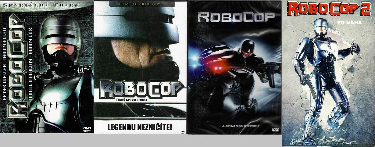 kolekce ROBOCOP - 3x DVD + 1x kniha bazarová