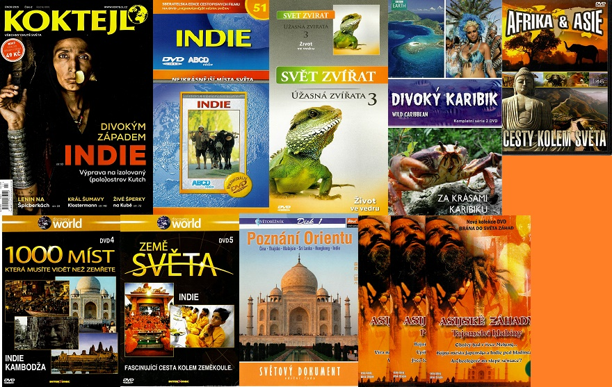 Kolekce INDIE ( 1x časopis Koktejl + 10x DVD )