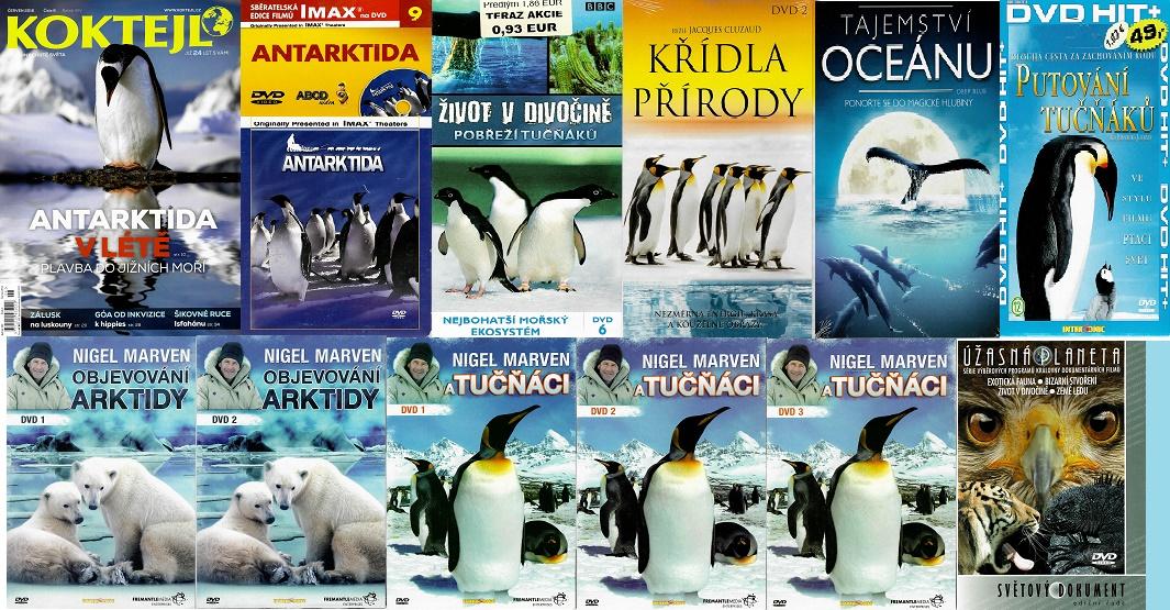Kolekce Antarktida / putování tučňáků ( 1x časopis Koktejl + 11 DVD )