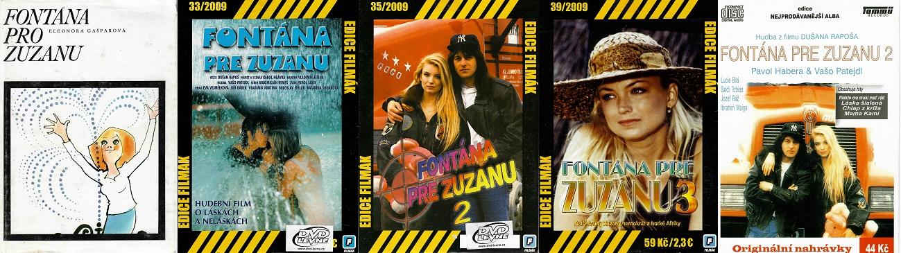 Fontána pro Zuzanu - Eleonóra Gašparová ( 1x kniha bazarová + 3DVD + 1CD )
