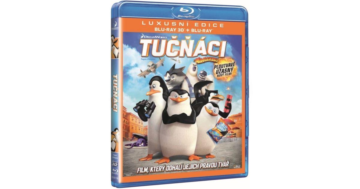 Tučňáci z Madagaskaru - Blu-ray 3D + Blu-ray