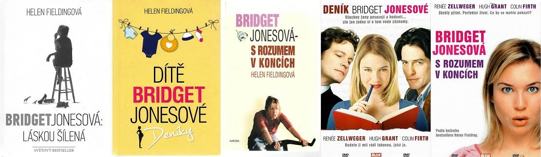 Bridget Jonesová - Helen Fieldingová ( 3x kniha bazarová + 2x DVD )
