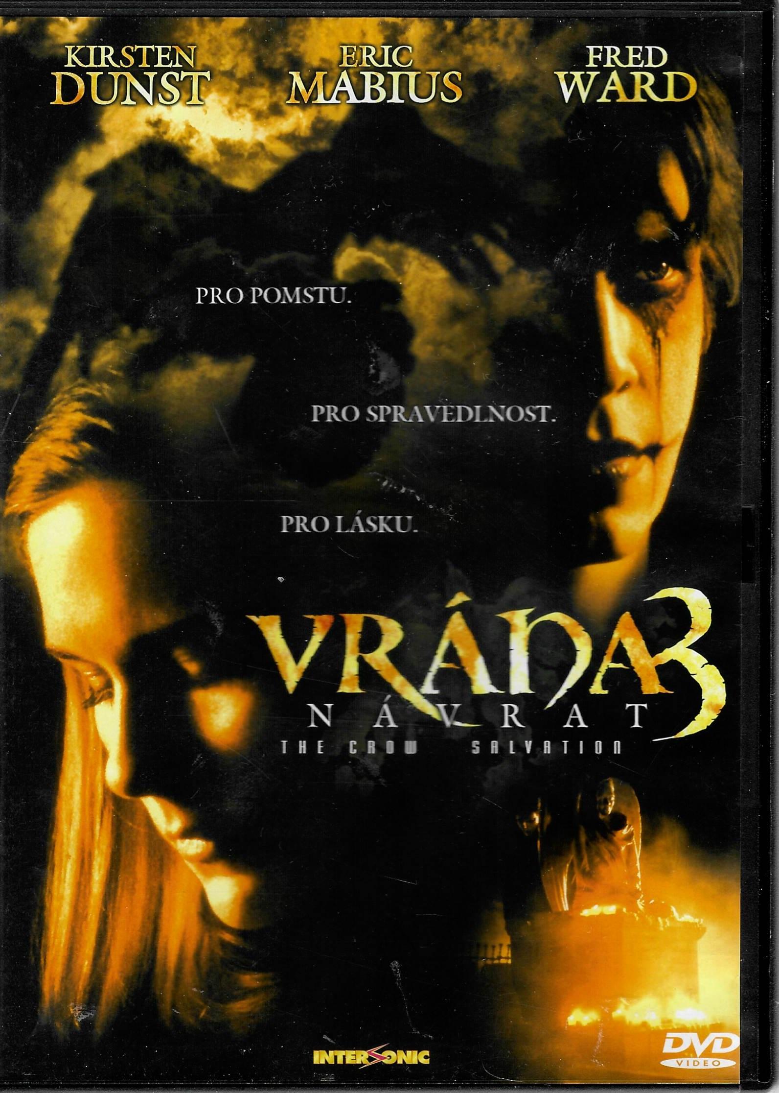 Vrána 3 - Návrat - DVD plast