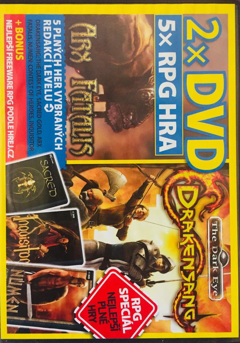 Arx Fatalis / Drakensang + 5xRPG hra - 2xDVD-ROM /slim/