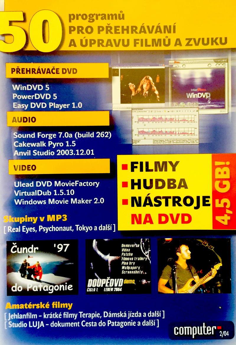 Computer 2/04 - 50 programů - DVD-ROM /plast/