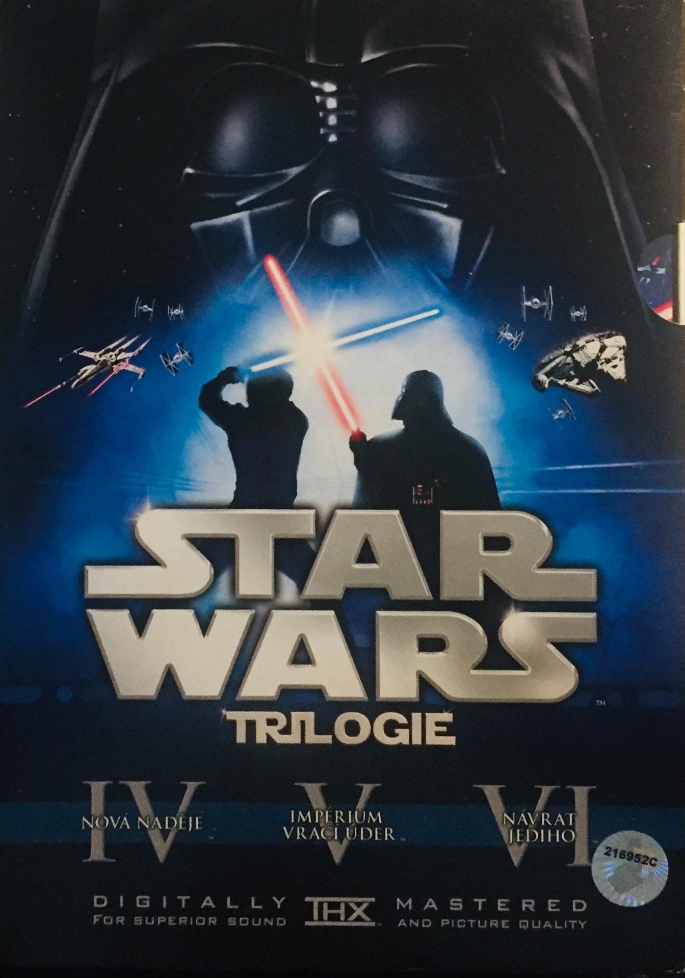 Star Wars - Trilogie - v originálním znění s CZ titulky - 3xDVD /3xslim v šubru/