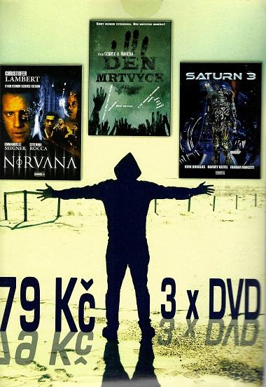 3x DVD  Nirvana / Den mrtvých / Saturn 3 ( pošetky ) DVD