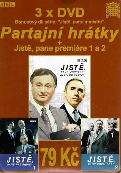 3x DVD Partajní htátky / Jistě pane premiér 1+2 ( pošetky ) DVD