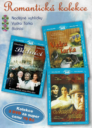 3x DVD Romantická kolekce - Bídníci / Vydra Tarka / Nadějné vyhlídky ( pošetky ) DVD