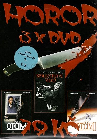 3x DVD HOROR  - Otčím / Otčím II / Společenství vlků ( pošetky ) DVD