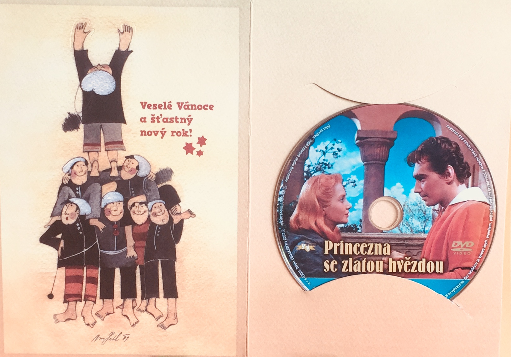 Princezna se zlatou hvězdou - DVD /dárkový obal/