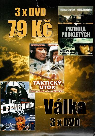 3x DVD Válka - Let černého anděla / Taktický útok / patrola prokletých ( pošetky ) DVD