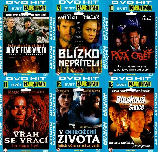 Kolekce DVD HIT Krimi - 6x DVD