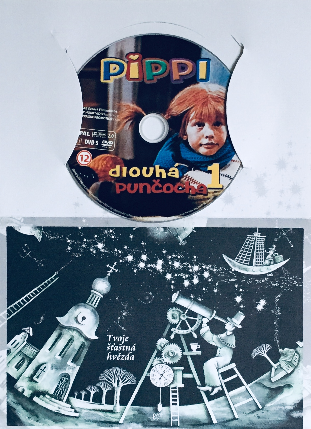 Pippi dlouhá punčocha 1 - DVD /dárkový obal/