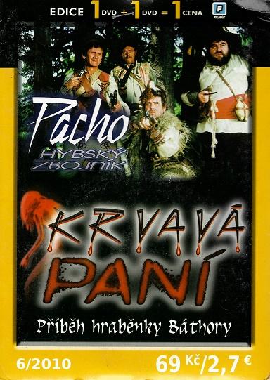 2x DVD Pacho hybský zbojník / Krvavá paní - příběh hraběnky Báthory ( pošetky ) DVD