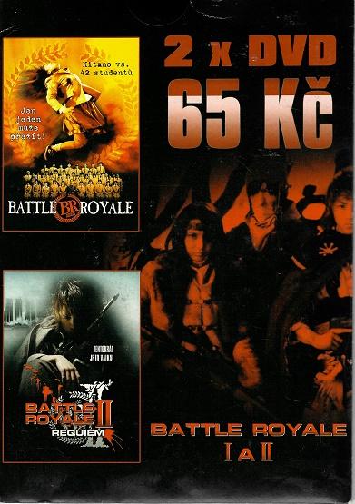2x DVD Battle Royale / Battle Royale II ( pošetky ) DVD