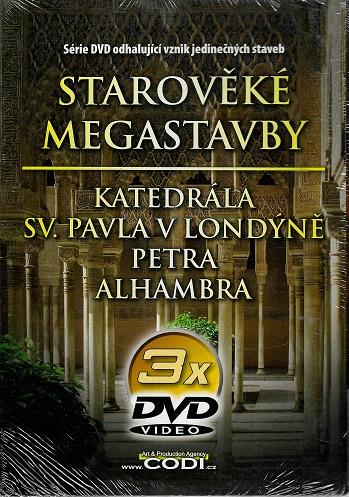 3x DVD Starověké megastavby ( pošetky ) DVD