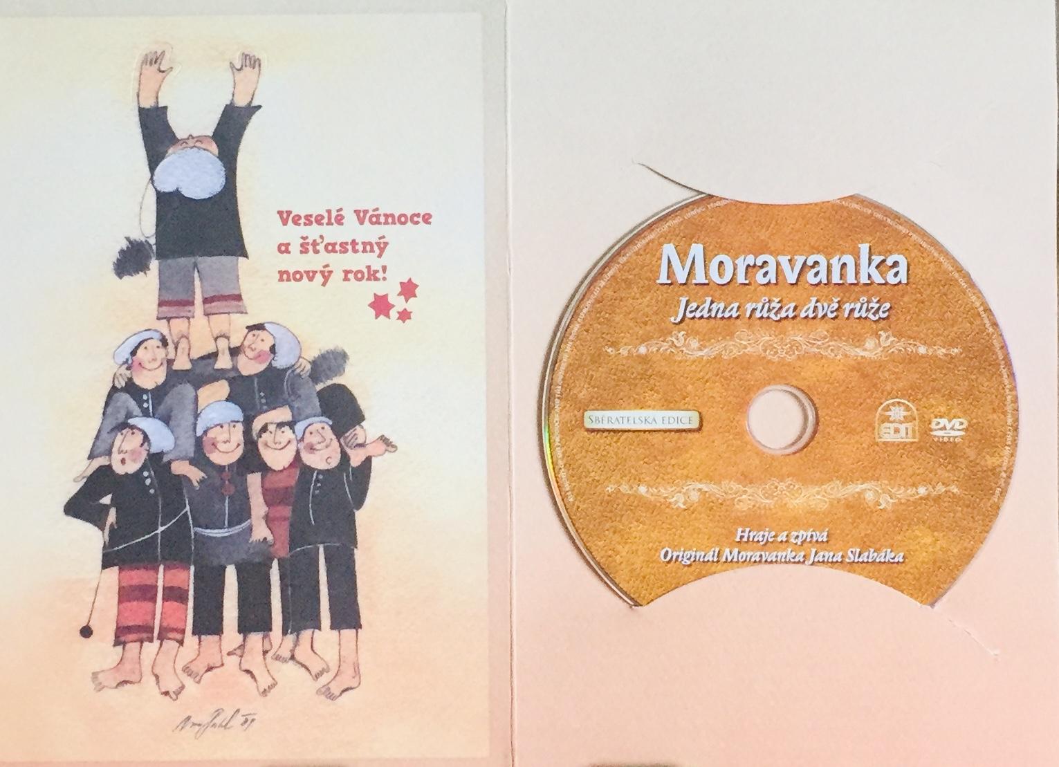 Moravanka - Jedna růža dvě růže - DVD /dárkový obal/