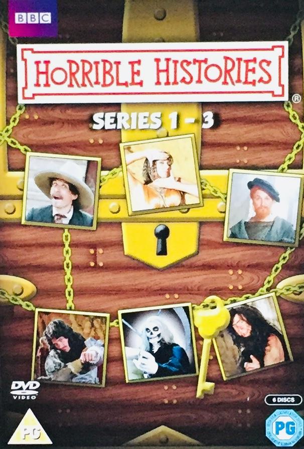 Horrible Histories / Děsivé dějiny - Series 1-3 - v originálním znění bez CZ titulků - 6xDVD /3xplast v šubru/