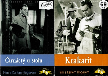 Nedělní filmy pro pamětníky 12 - Karel Höger - 2 DVD pošetka
