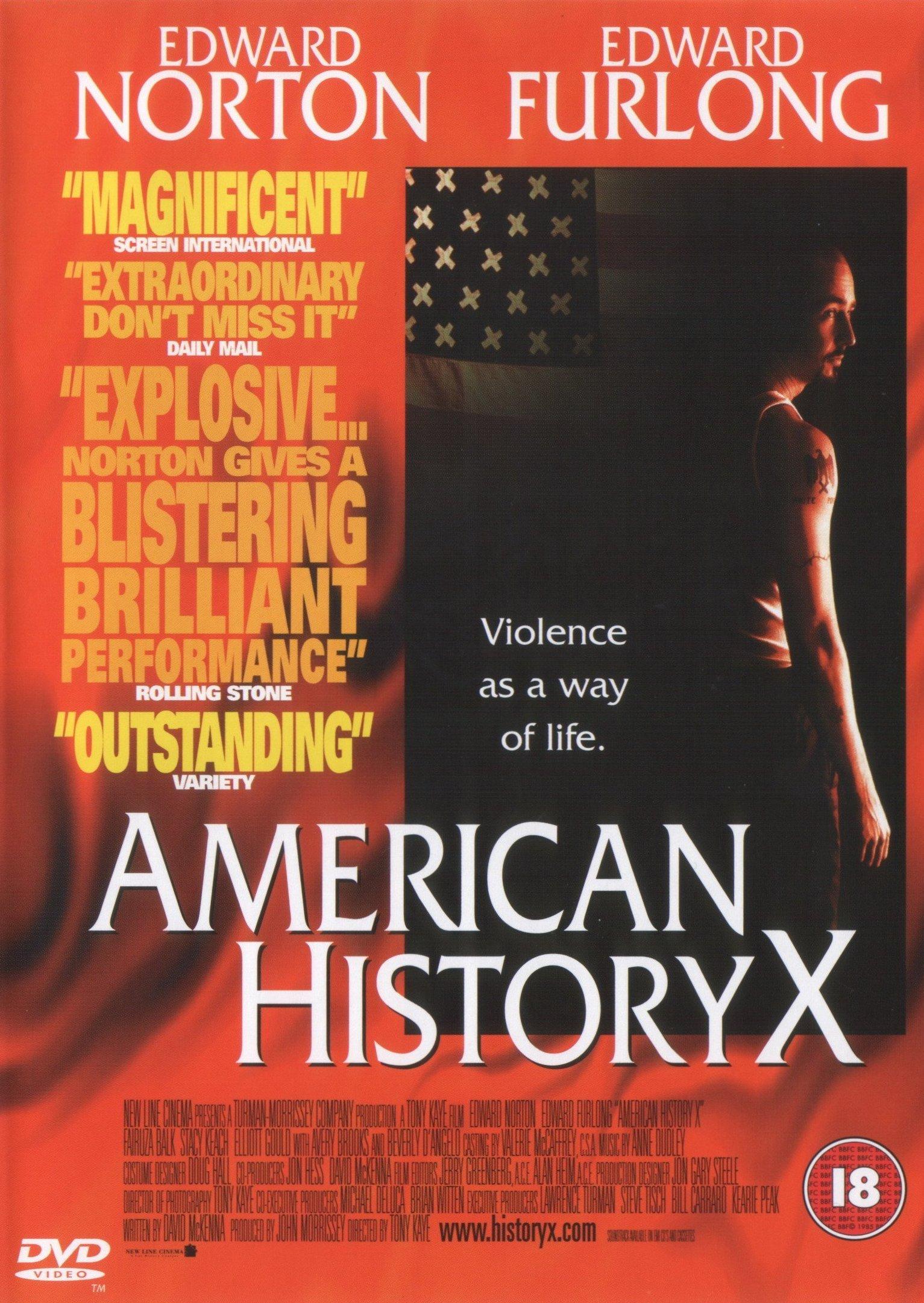 American History X / Kult hákového kříže - v originálním znění bez CZ titulků - DVD /plast/