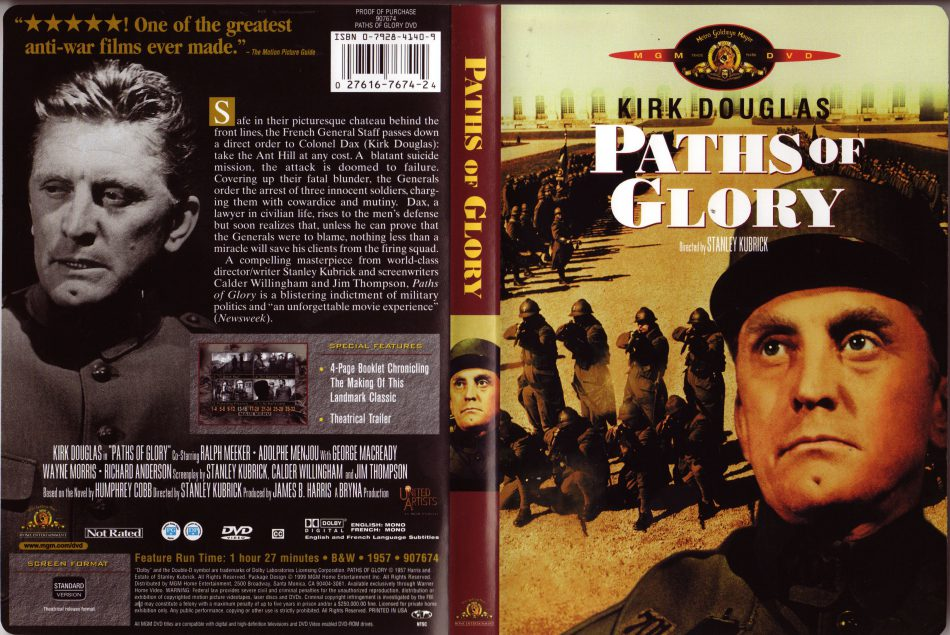 Paths of Glory / Stezky slávy - v originálním znění bez CZ titulků - DVD /plast/