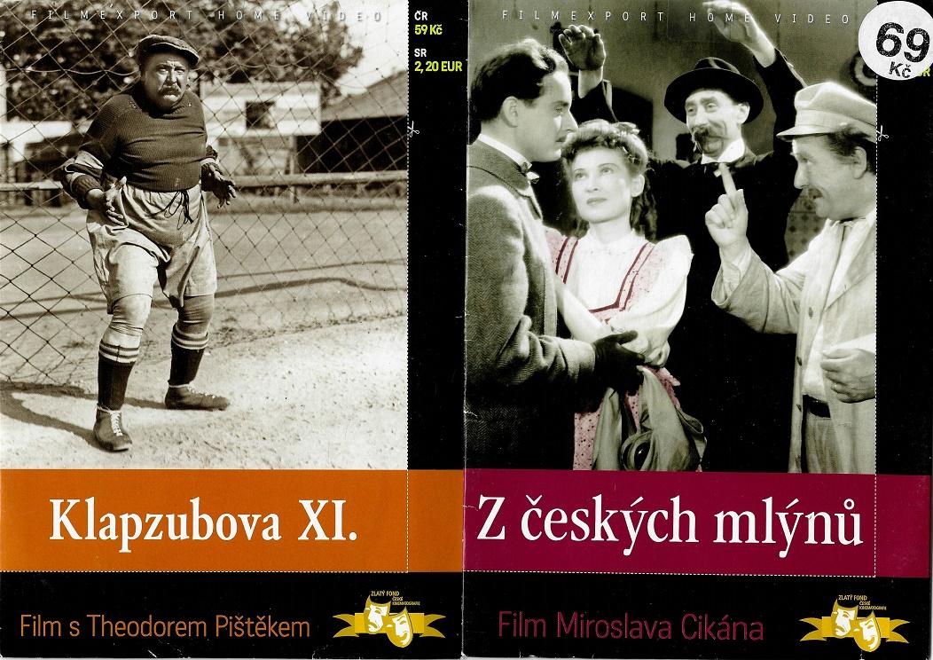 Nedělní filmy pro pamětníky 30: Theodor Pištěk - 2x DVD