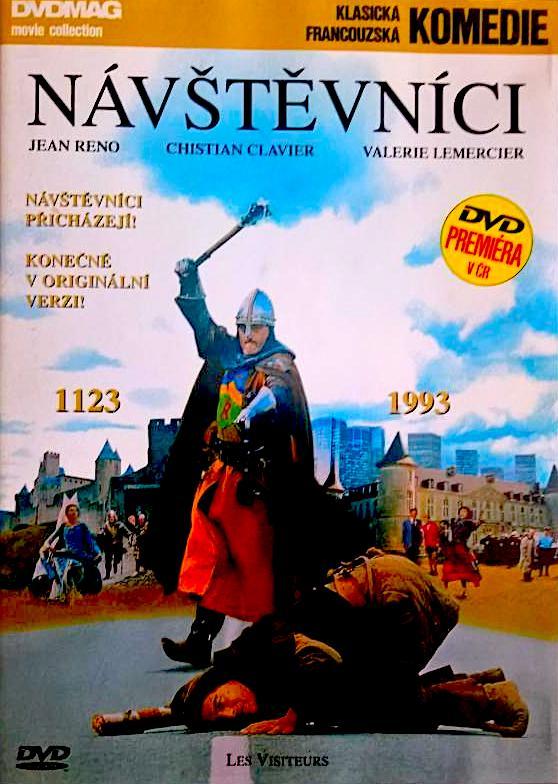 Návštěvníci - klasická francouzská komedie - DVD /plast/