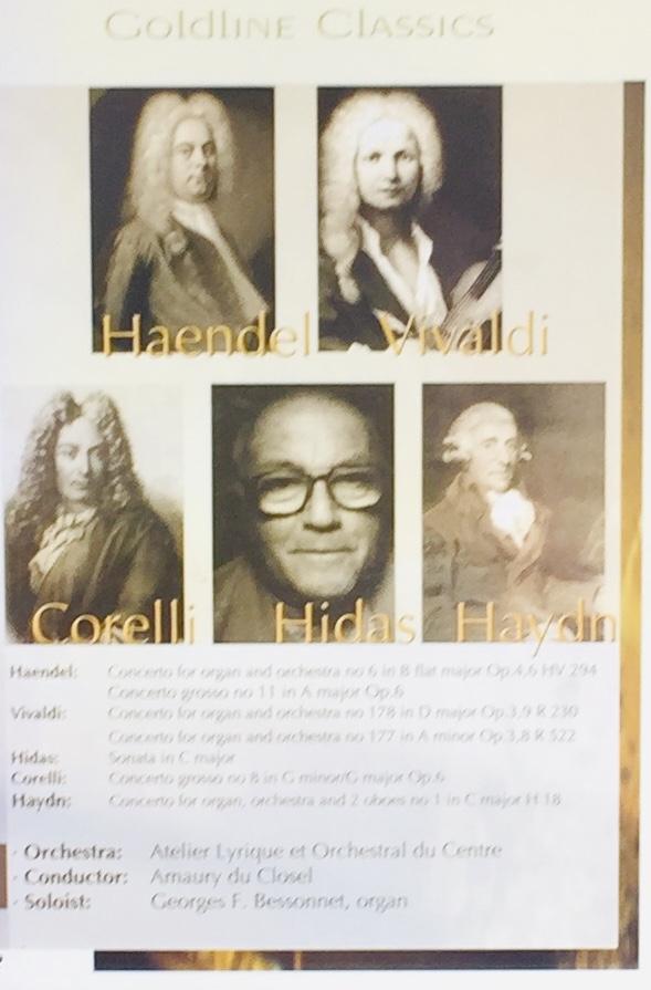 Haendel / Vivaldi / Corelli / Hidas / Haydn - Goldline Classics - DVD /plast/