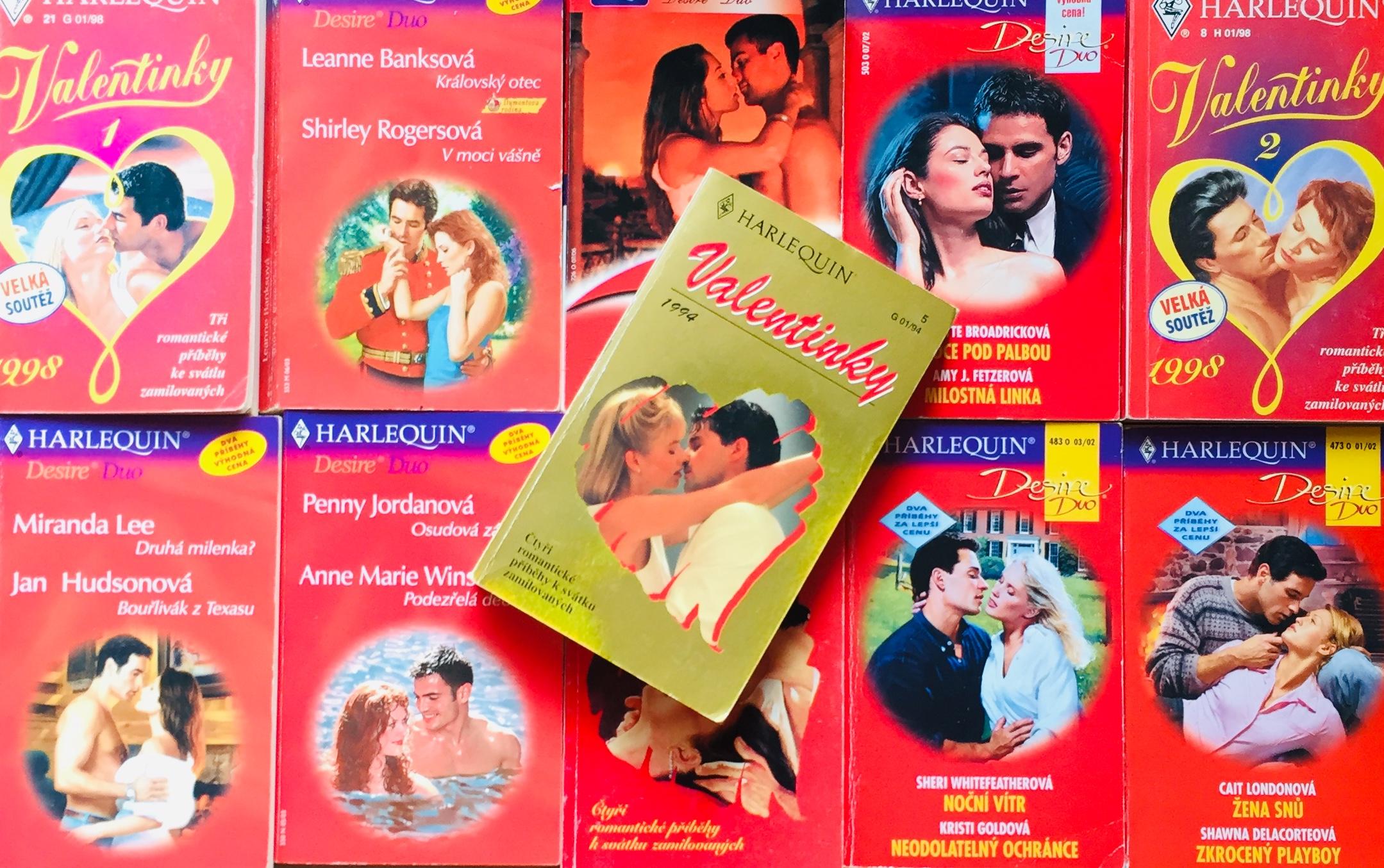 Velká knižní kolekce Harlequin 173. - 10x bazarová kniha + dárek