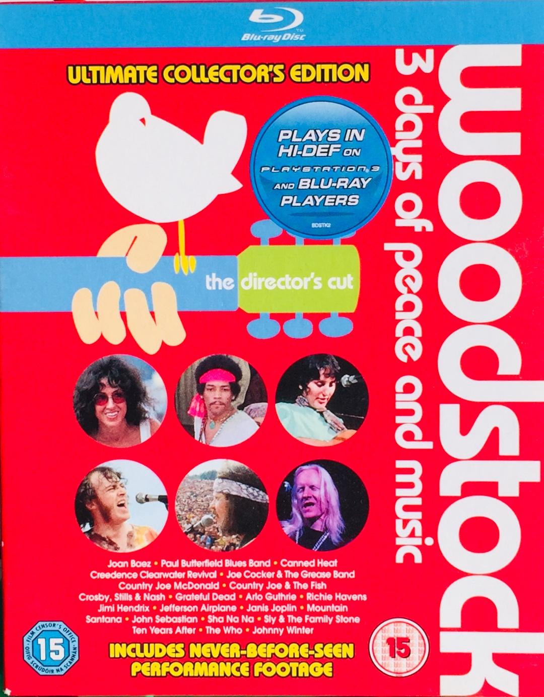 Woodstock - 3 days of Peace and Music - 2xBlu-ray Disc - /plast v šubru/