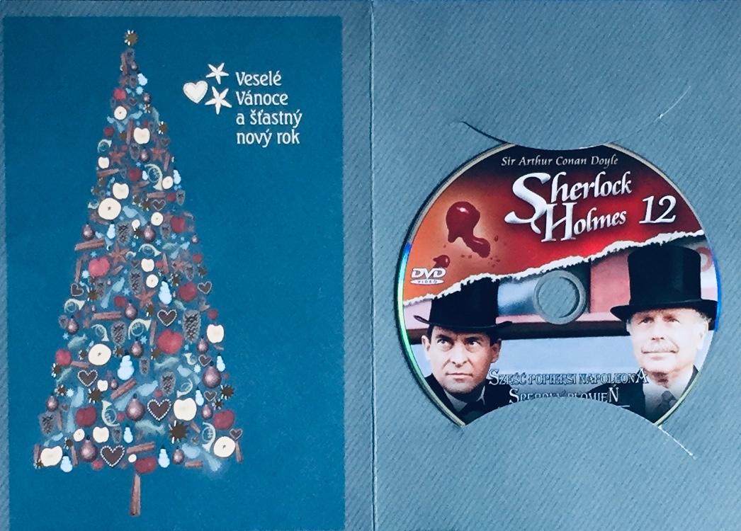 Sherlock Holmes 12 - Šest Napoleonů / Stříbrný lysáček - DVD /dárkový obal/