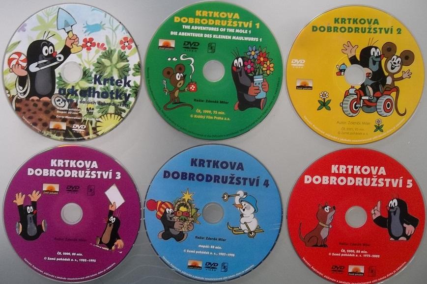 Kolekce Krtkova dobrodružství - 6 DVD