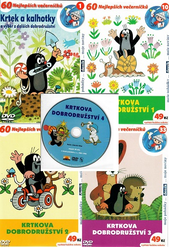 Kolekce Krtkova dobrodružství - 5 DVD