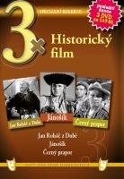 3x Historický film - Jan Roháč z Dubé / Jánošík / Černý prapor DVD