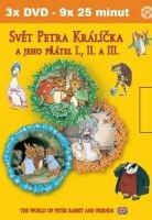 Svět Petra Králíčka a jeho přátel - 3x DVD - DVD box slim