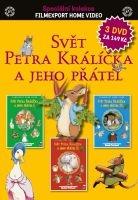 Svět Petra Králíčka a jeho přátel - 3x DVD - papírové pošetky