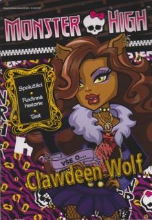 Monster High - Vše o Clawdeen Wolf+samolepky