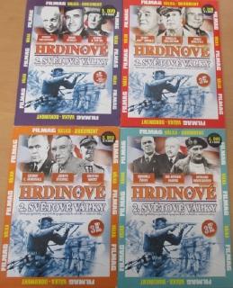 Kolekce Hrdinové 2. světové války 4x DVD