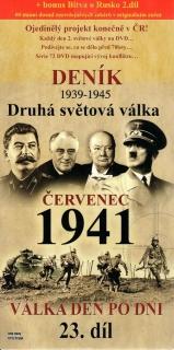 Deník - Druhá světová válka díl.23 - Červenec 1941 - DVD