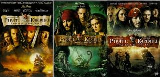 Kolekce Piráti z Karibiku 3x DVD plast / Prokletí Černé perly / Truhla mrtvého muže / Na konci světa